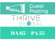 Publish Super Editorial on Thrive Global, ThriveGlobal.com