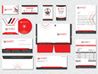 Design business cards stationery and corporate brand identity