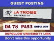 Guest post on my Latrobe university blog (latrobe.edu.au) ,DA78