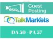 Publish a guest post on Talkmarkets - Talkmarkets.com - DA 50