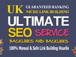 Gain 50 backlinks manually from 50 niche, high PR UK sites