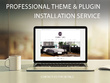 Install + Setup WordPress or any other CMS Theme or Plugin