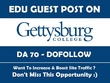 Dofollow Edu guest post on Gettysburg College. Gettysburg.edu