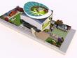 Make 3D rendered floor plan + 2 eye level renders