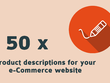 Write 50 descriptions for your e-commerce website