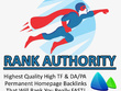 Add 25 Permanent Homepage PBN Backlinks(upto+30TF/CF - +40DA/PA)