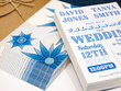 Design a bespoke A6 double sided wedding invitation