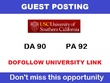 USC.edu Guest Post on California edu Top University Blog DA 90 +