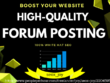 Create 10 high authority niche forum posting top USA forum site