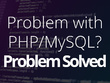 Fix your php/mysql error.