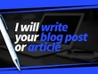 Write an effective 500 word blog or article
