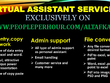 DO Data Entry, Copy Paste Work As A Reliable Virtual Assistant.