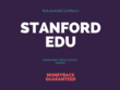 Stanford.edu DA96 Permanent Moneyback Guarantee Dofollow Indexed