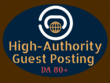 Do 3 High-Authority Guest Post Services