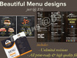 Design beautiful restaurant food menu/catalogue superfast