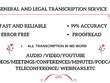 Transcribe 20 minute audio or video clip in 4 hours