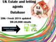 UK letting and Estate agents database 20,000 (20K emails)