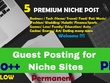 5 GuestPosts on EXTREMELY Powerful PBN - Niche Related DA 30+