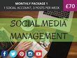 Manage 1 Social Media Account For 1 Month;  3 Posts Per Week