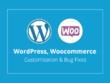 Fix bugs and customization Wordpress, Woocommerce