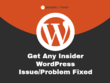 Get Any Insider WordPress Issue/Problem Fixed