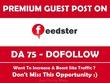 Publish Guest Post on  Feedster. Feedster.com - DA 75
