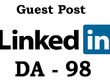 "Write And Publish NO-FOLLOW Guest Post on ""Linkedin"" DA-98"