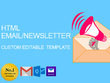 Design your HTML newsletter,email campaign or Mailchimp template