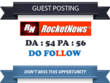 Guest Post On Rocketnews with a Dofollow Link