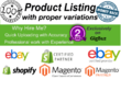 E-Commerce Store - Upload 100 Products