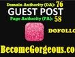 Guest Post On Becomegorgeous DA 76 Dofollow Blog