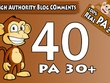 """Do 40 """" PA 30 to 70"""" Dofollow Blog Comment"""