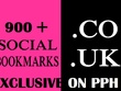900+ HQ. CO. UK Social Bookmarks Backlinks for your Website