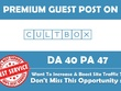 Write & Publish Premium Guest Post on Cultbox. co. uk