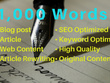 Write original and authentic 1000 words SEO articles, blog posts