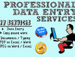 I will do all type of data entry work for 4 hours