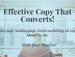 Strengthen/write up to 100 words of copy that converts