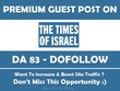 Publish Guest Post on Times Of Israel. Timesofisrael.com - DA84