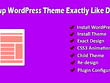 Install WordPress and WordPress theme exactly like theme demo