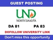 Write and Publish a guest post on UND - Und.edu DA 81