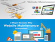 Provide one day of website maintenance - html/css/js/wordpress