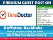 Publish a guest post on Time Doctor Blog - DA 55, TF18, DR59