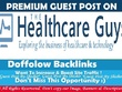 Publish Guest post on HealthCareGuys – HealthCareGuys.com
