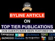 BYLINE article on contentmarketinginstitute.com and more!