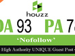 "Write and publish UNIQUE Guest Post on ""Houzz"" DA-98"