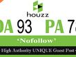 "Write and publish UNIQUE Guest Post on ""Houzz"" DA-98"