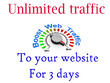 Drive unlimited traffic to your website For 3 days