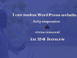 Makes WordPress website with fully responsive in 24 hours