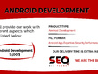 Create a simple Android Application (Apps) for your services