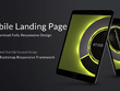 Bootstrap responsive lightning fast download landing page